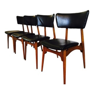 Defco Mid-Century Modern Dining Chairs - Set of 4