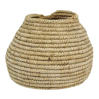 Hand-Woven Hive-Shaped Basket