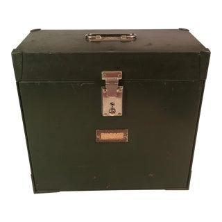Green Metal File Box