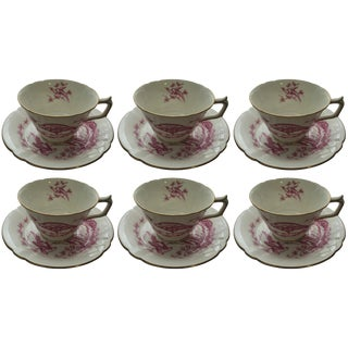 Royal Crown Derby Cups & Saucers - 12 Pieces