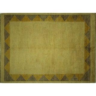 Gabbeh Oriental Ivory Wool Rug - 5' x 6'