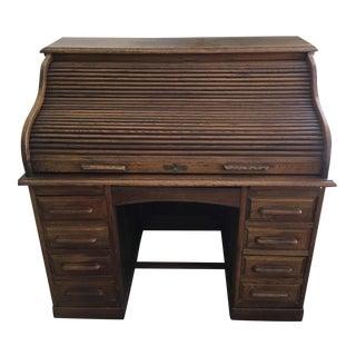 Antique Wooden Rolltop Desk