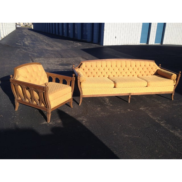 Mid-Century Hausske-Harlen Tufted Sofa & Chair Set - Image 2 of 10