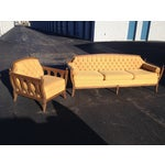 Image of Mid-Century Hausske-Harlen Tufted Sofa & Chair Set