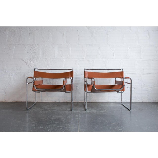 Wassily Marcel Breuer for Knoll Chairs - a Pair - Image 2 of 11