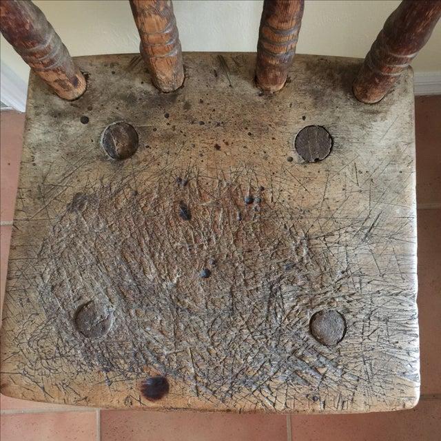 Handmade Pegged Chair - Image 4 of 5
