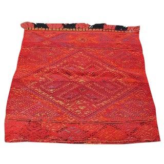 Vintage Red Hand Woven Kilim Rug - 2′3″ × 2′9″