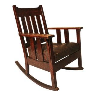 Arts & Crafts Mission Oak Morris Rocking Chair
