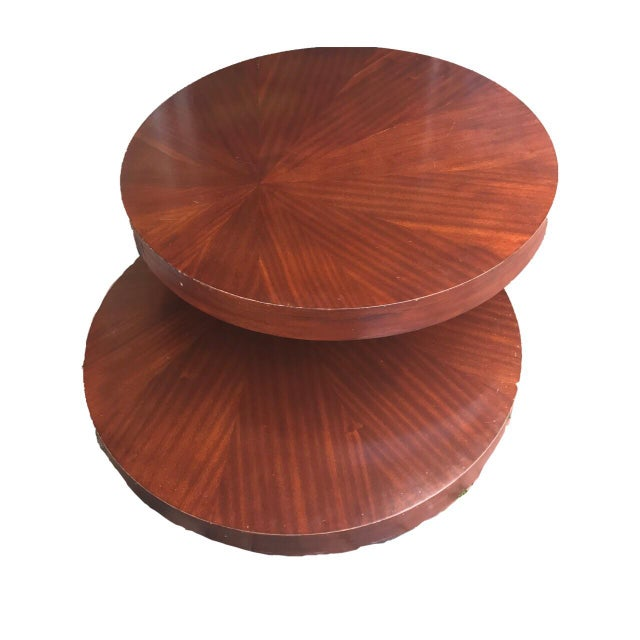 Round Wooden Rotating Coffee Table - Image 4 of 10