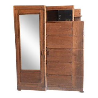 Vintage Armoire With Shoe Rack Storage