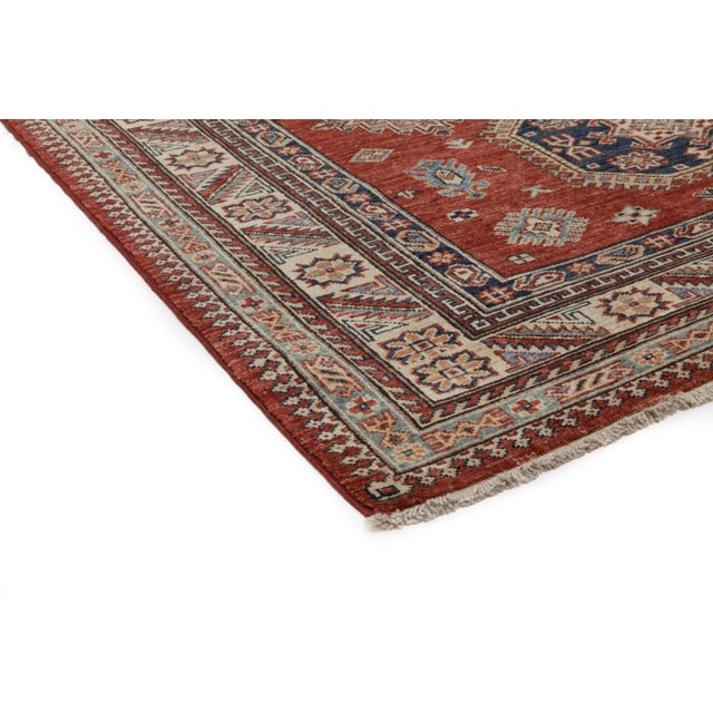 "Kazak Hand Knotted Area Rug - 5' X 6'10"" - Image 2 of 3"