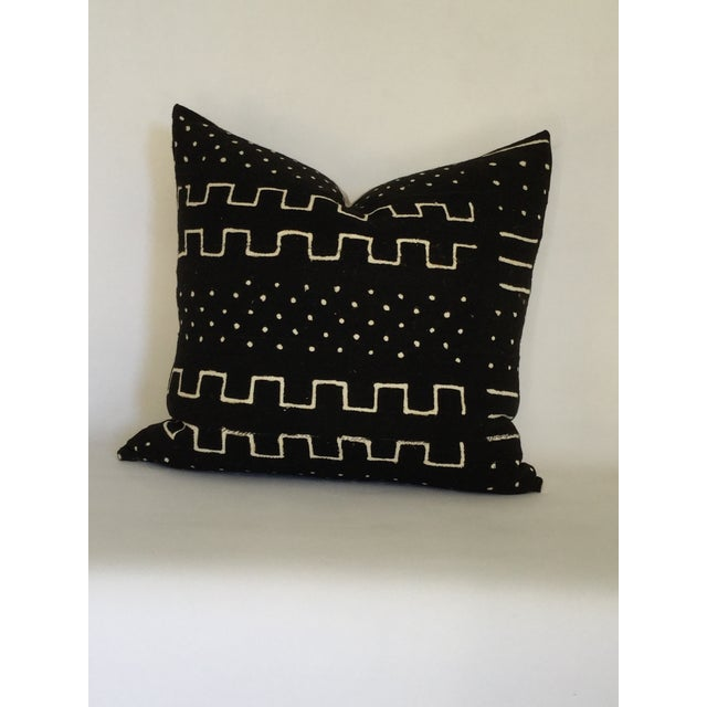 Vintage African Black Mudcloth Pillow - Image 2 of 4