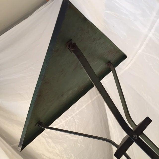 Antique vintage deco industrial metal side table chairish - Deco vintage industriel ...