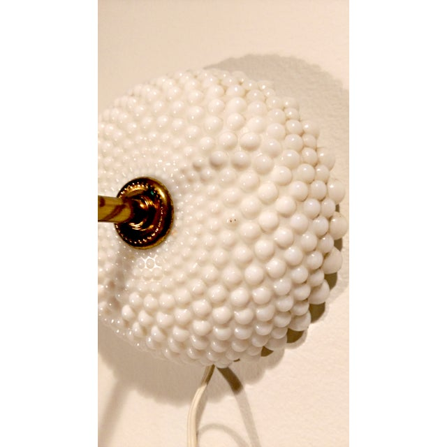 Image of Hobnail Milk Glass Wall Scones- A Pair