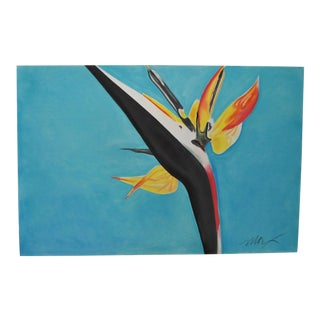 Bird of Paradise Pastel Painting by Max