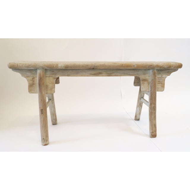 19th Century Oak Mortised Bench - Image 2 of 7