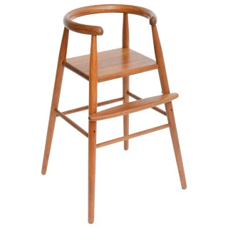 Nanna Ditzel Mid-Century Teak Child's High Stool