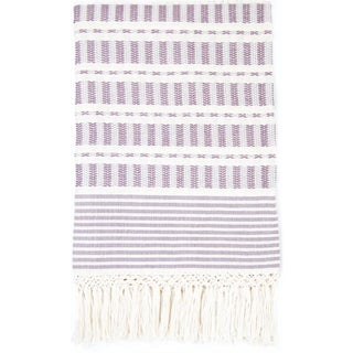 Mexican Mauve Handwoven Throw