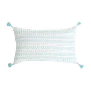 Light Blue Handwoven Mexican Pillow