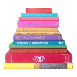 Brightly Colored Decorative Books - Set of 12