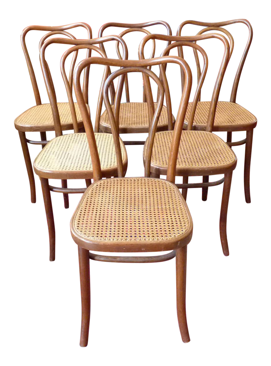 Vintage Bentwood And Cane Cafe Dining Chairs   Set Of 6   Image 1 Of 10