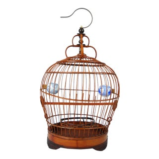 Petite Asian Bamboo Bird Cage
