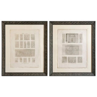 Framed Egyptian Book Plates - A Pair