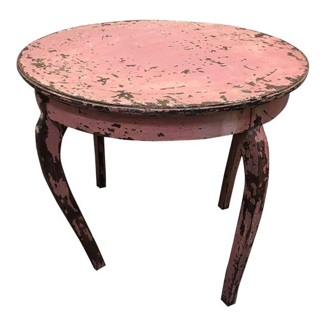 Image of Vintage Pink End Table
