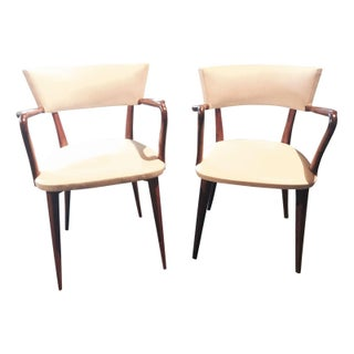 Brazilian Rosewood Occasional Chairs - Pair