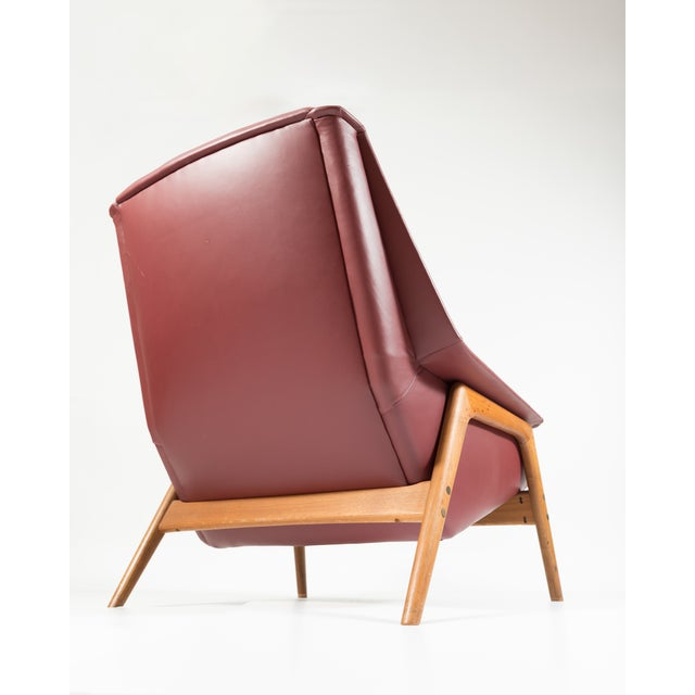 Image of Folke Ohlsson Dux Leather Lounge Chair And Ottoman