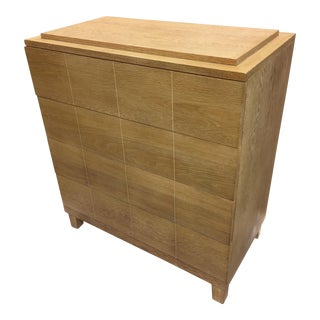 Modernist Custom Made Cerused Oak Dresser
