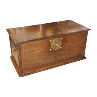 Brass Mounted Anglo Indian Chest