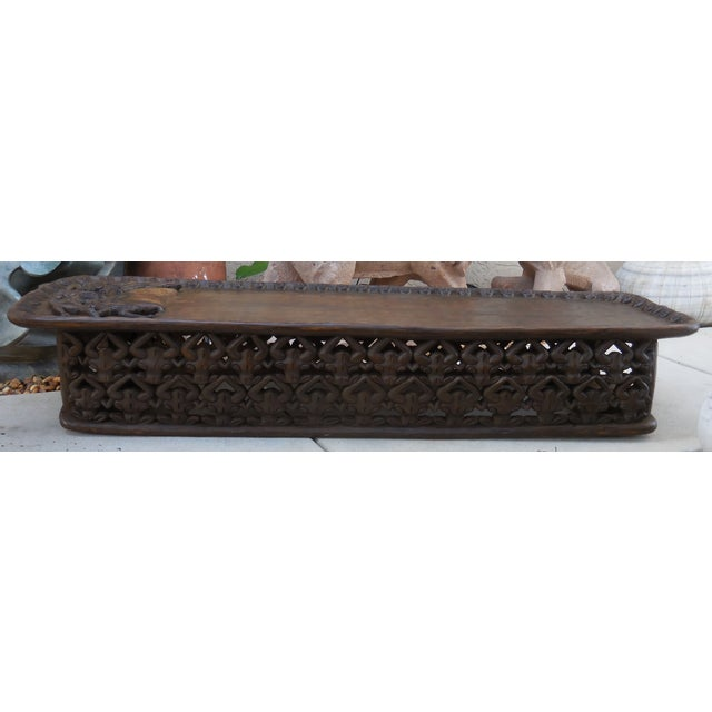 Carved african coffee table chairish African coffee tables