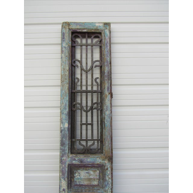Architectural Mediterranean Door with Iron Grill - Image 6 of 9