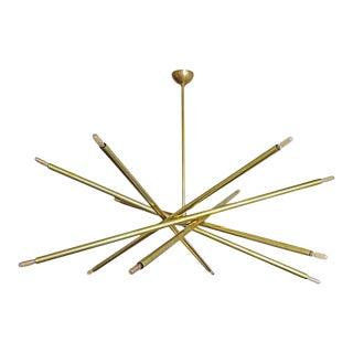 Raw Brass Spiral Chandelier