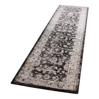 "Distressed Vintage Brown Rug - 2'8"" x 10'"