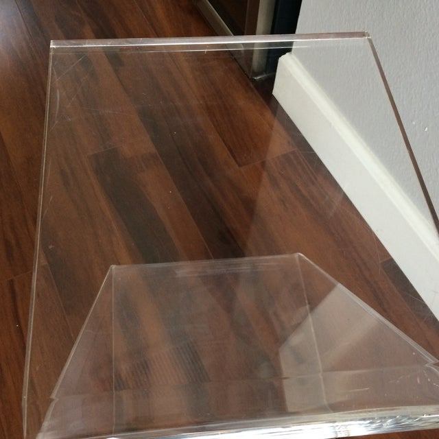 Vintage Lucite Z End Table Mascheroni Style - Image 6 of 7