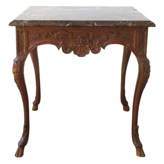 French Regence Style Marble Top Side Table