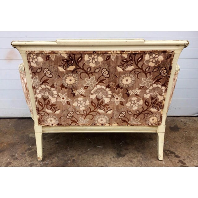 French Style Floral Upholstered Loveseat - Image 3 of 4