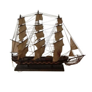 Antique Spanish Sailing Ship Model