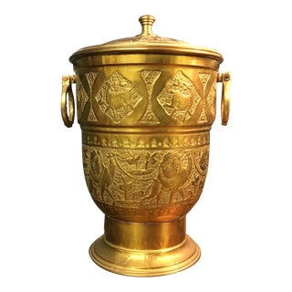 Vintage Brass Turkish Ice Bucket