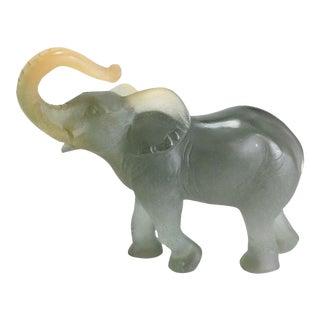 Daum France Art Glass Pate De Verre Elephant Figurine, Signed