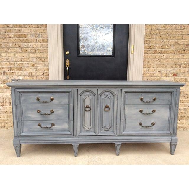 Vintage Distressed Gray Triple Dresser - Image 2 of 6