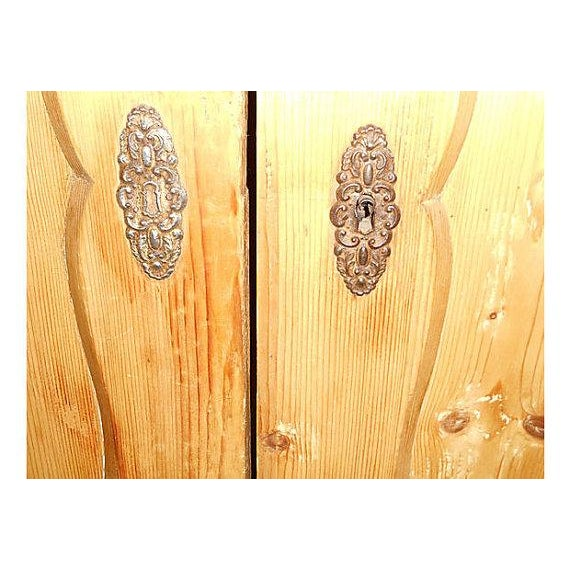 Double-Door Swedish Pine Armoire - Image 4 of 4