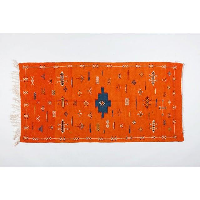 Image of Orange Atlas Berber Rug - 3′1″ × 6′3″