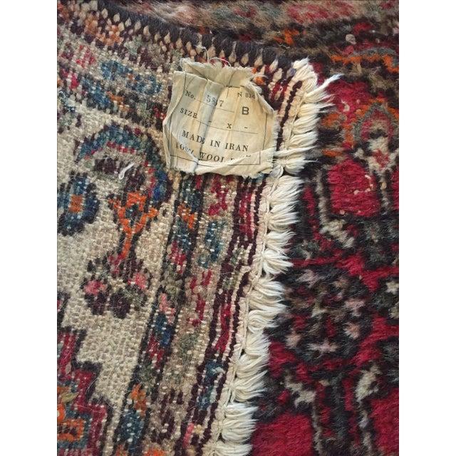 """Vintage Wool Rug - 35.5"""" X 22.5"""" - Image 6 of 6"""