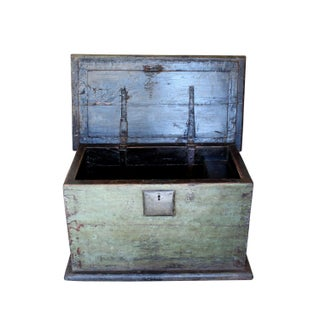 1780s Chinese Trunk, Antique Wood & Iron