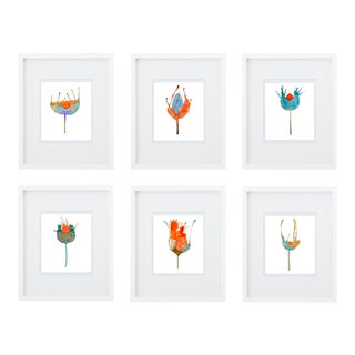 Botanical Giclee Print Grouping - Set of 6 Free Shipping