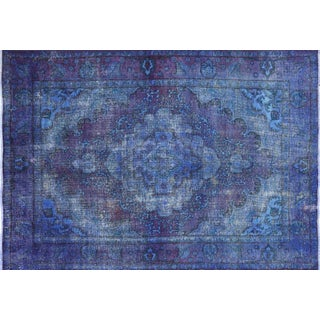 """Hand Knotted Overdyed Oriental Rug - 6' 4"""" X 9' 2"""""""