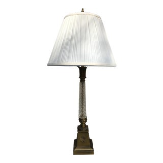 Brass & Cut Glass Table Lamp